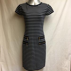 Carmen Marc Valvo Knit Dress  - Size Small